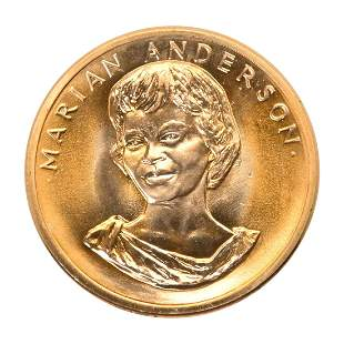 US 1980 American Arts Gold Medallion,