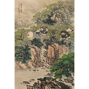 Attrib. to Song Wenzhi: Landscape Hanging Scroll.