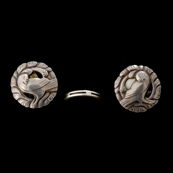 1: COLL. OF TWO GEORG JENSEN STERLING SILVER ITEMS