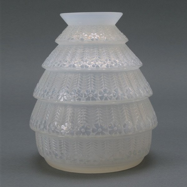 295: R. Lalique France Ferrieres Frosted Glass Vase
