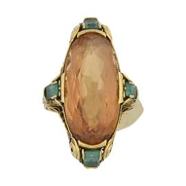 Louis C. Tiffany for Tiffany & Co. Imperial Topaz Ring