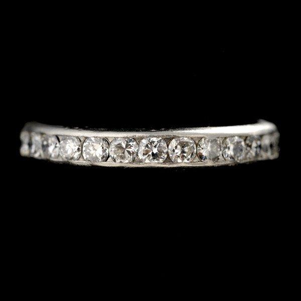 16: DIAMOND, PLATINUM ETERNITY RING.