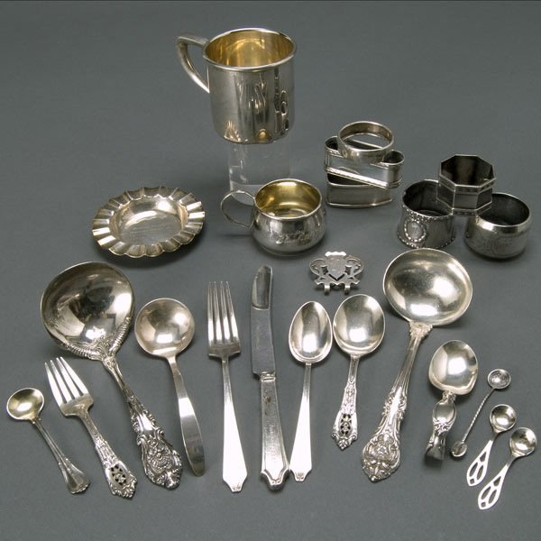 1294: Group of Twenty Three Sterling Items