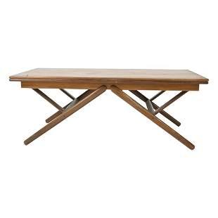 Danish Mid Century Modern Teak Convertible Table.