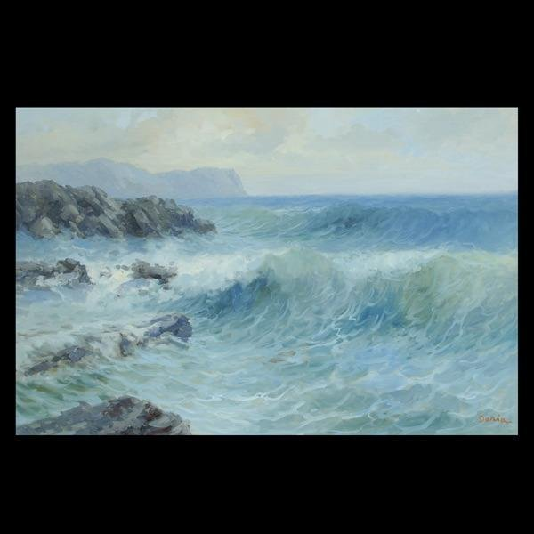 1007: Seascape, American Art, Signed Doria