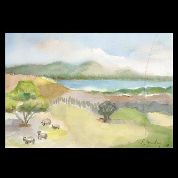1012: Manley, American Landscape Art Watercolor