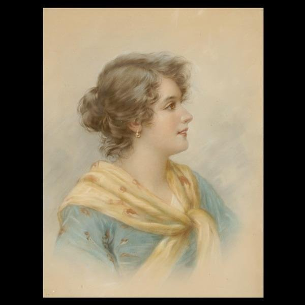 1017: ITALIAN OR AUSTRIAN SCHOOL 19TH C PASTEL PORTRAIT