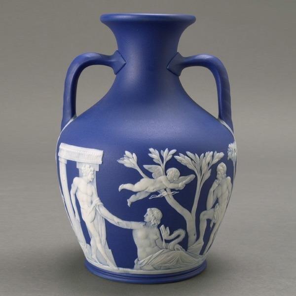 1211: Wedgwood Jasperware Two Handled Portland Vase