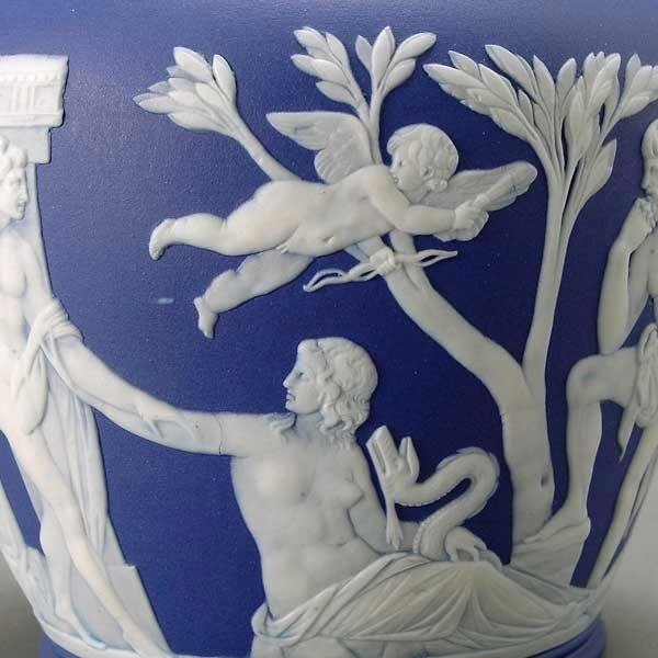 1211: Wedgwood Jasperware Two Handled Portland Vase - 2