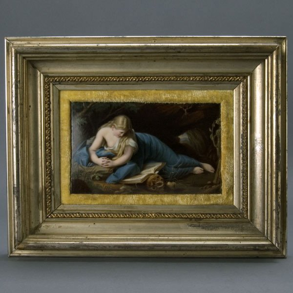 1: KPM Porcelain Plaque of Penitent Magdelena