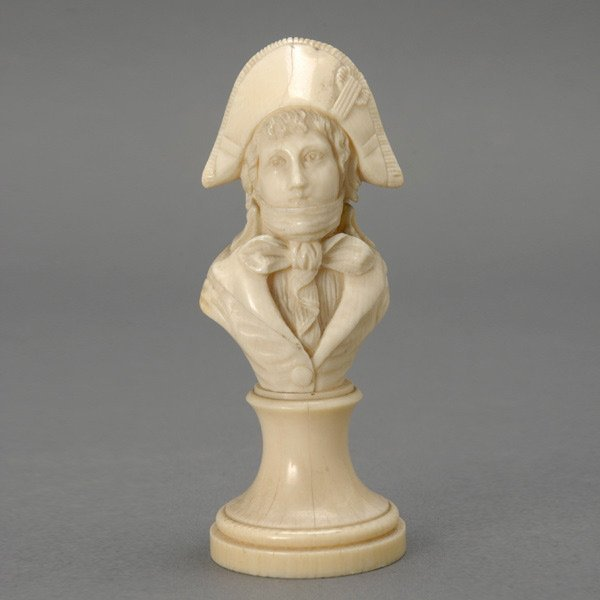 6: 19th C. Dieppe Ivory Bust of Young Man