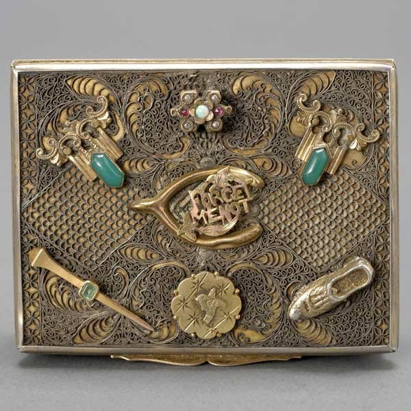 12: Continental Silver Filigree Snuff Box