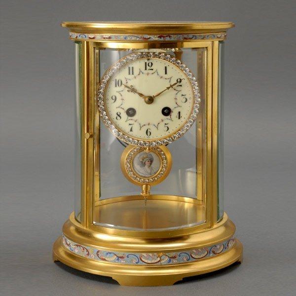 15: S.Marti et Cie Mantel Clock, Medallion Pendulum