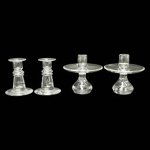 Two Steuben Candlestick Pairs.