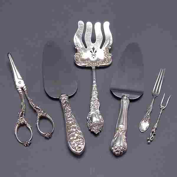 Six Assorted Sterling Serving Pieces