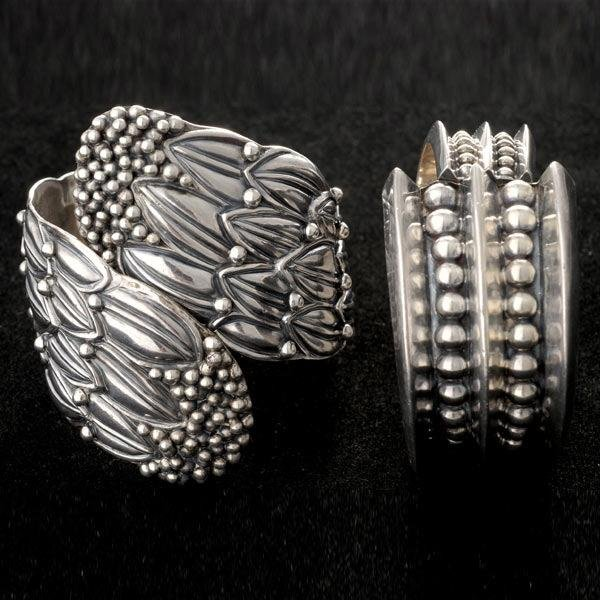 4: TWO MEXICAN STERLING BRACELETS