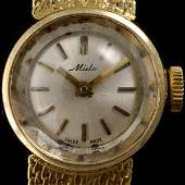 250 LDS MIDO 18K YELLOW GOLD WRIST WATCH
