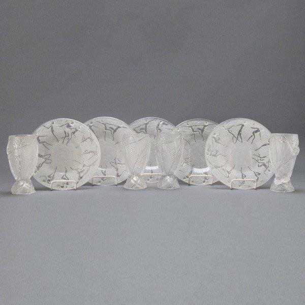 498: Suite of Art Deco Consolidated Glasswares: