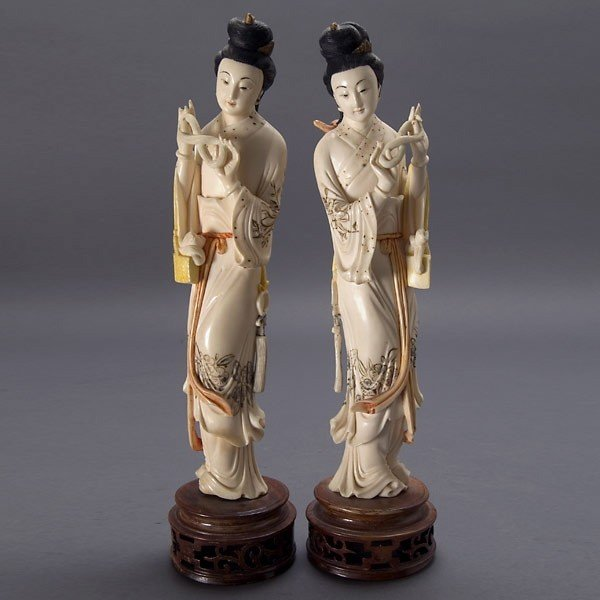 2002: A Pair of Painted Ivory Beauties, Republic Period