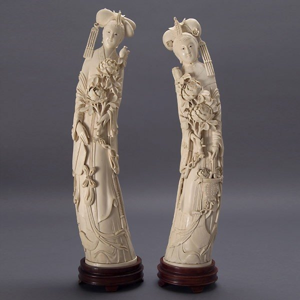 2013: A Pair of Carved Ivory Beauties*