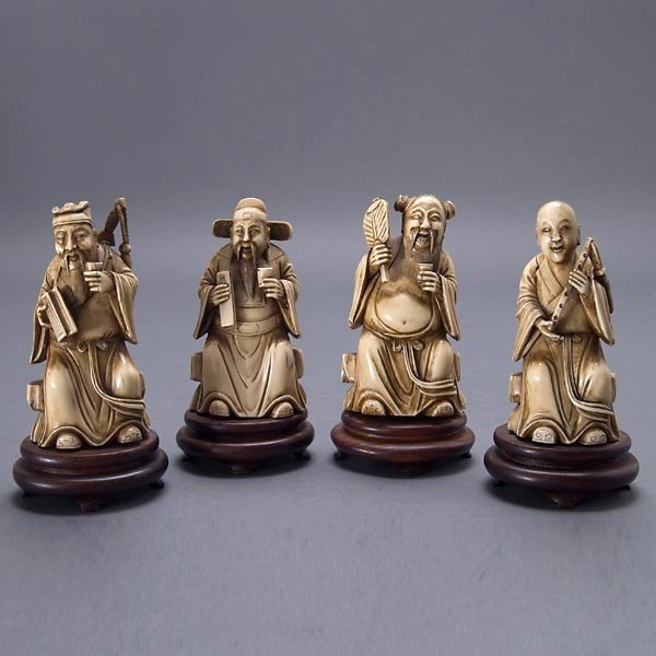 2015: Four Ivory Immortal Figures, Late Qing Dynasty*