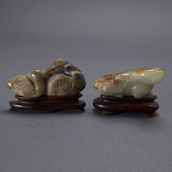2019: Two Small Jade Carvings of Animals
