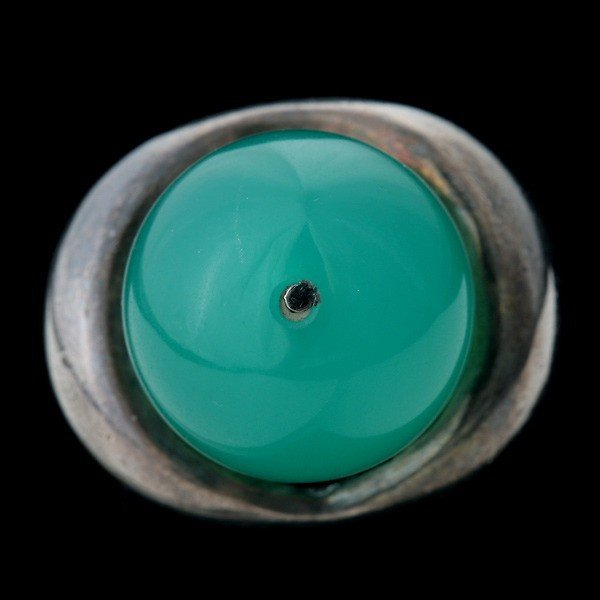 2: SPANISH CHALCEDONY, SILVER RING