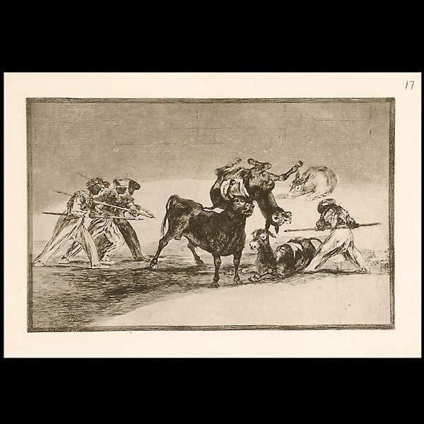 1004: Goya, Etching on paper,  framed.