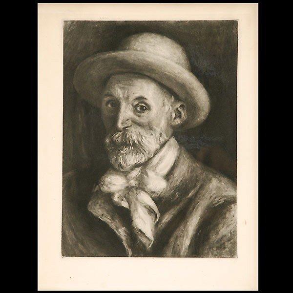 """1006: Renoir, """"Autoportrait""""  Heliogravure 1919"""