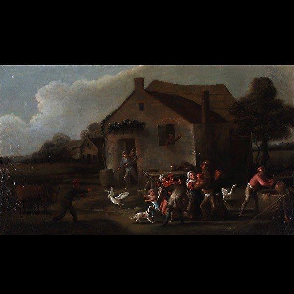 1010: Flemish painting 17th century Oil