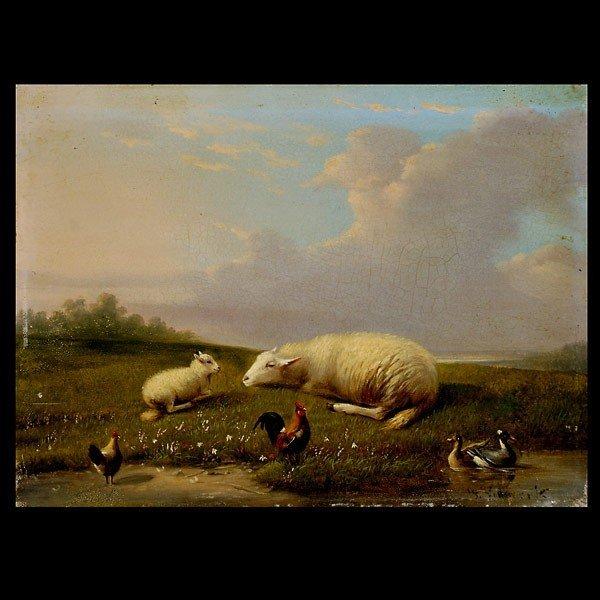 1016: FRANZ van SEVERDONCK  . Dutch painting Oil