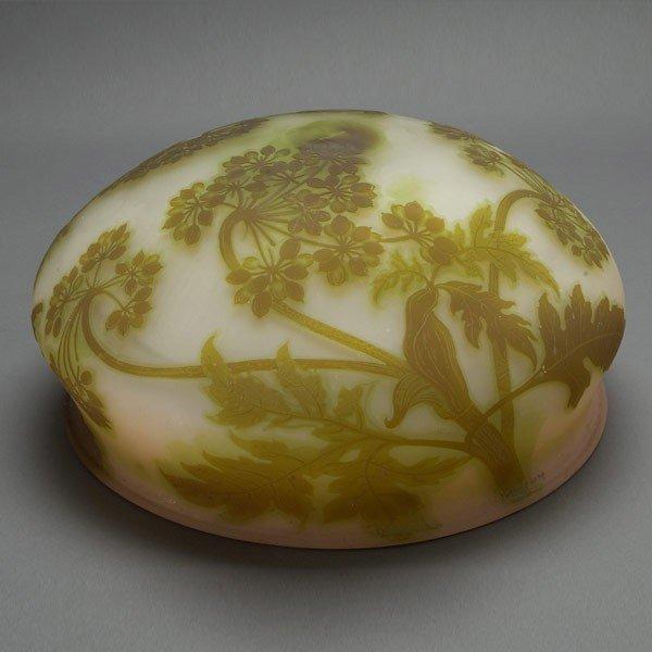 1406: Gallé Cameo Glass Plaffonier