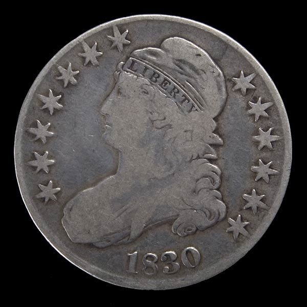 253: 1830 Capped Bust United States Half Dollar