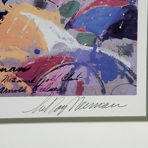 "748: LeRoy Neiman.  ""Arnie in the Rain"" Lithograph - 2"