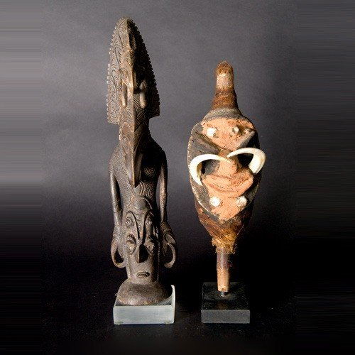 1022: Vanuatu puppet and lower Sepik river figure