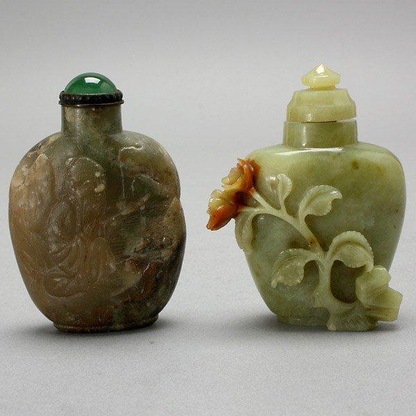 336: Two Hardstone Snuff Bottles