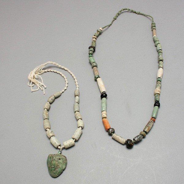1003: 2 strands pre-columbian beads