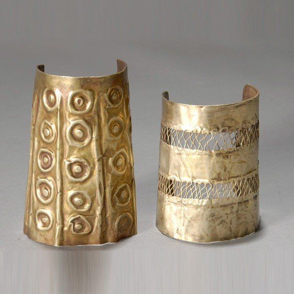 1016: two ancient andean wrist guards or cuffs