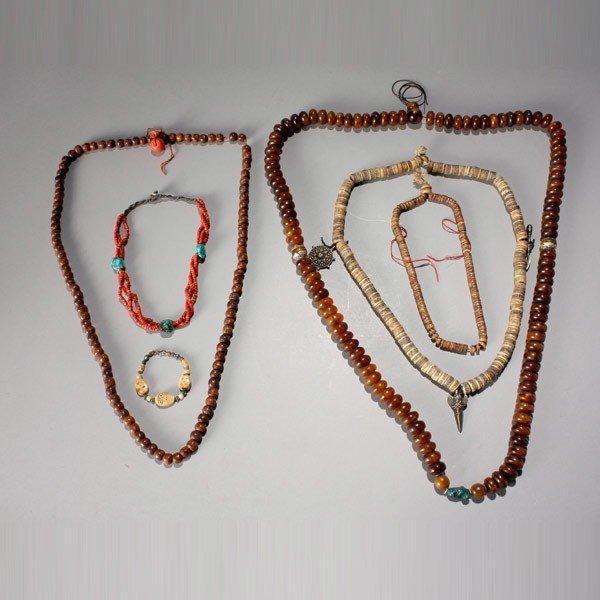 1030: 5 himalayan necklaces/prayer beads
