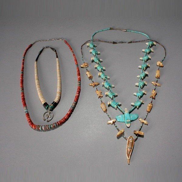 1031: four pueblo necklaces