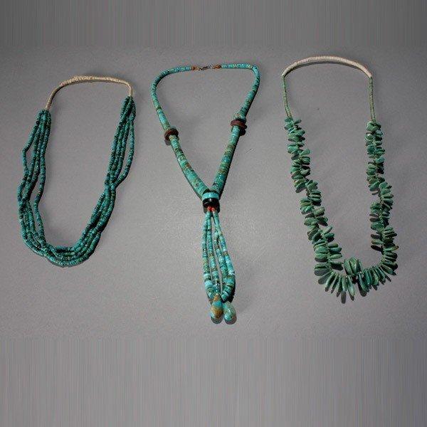 1032: three pueblo necklaces
