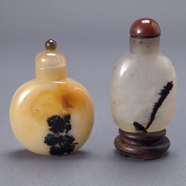 343: Two Agate Snuff Bottles