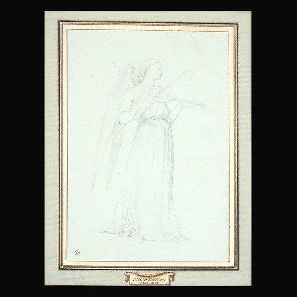 1002: Ingres sketch of angel with viol