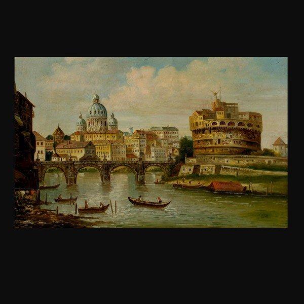 1006: Schonhauser painting of Vatican Rome