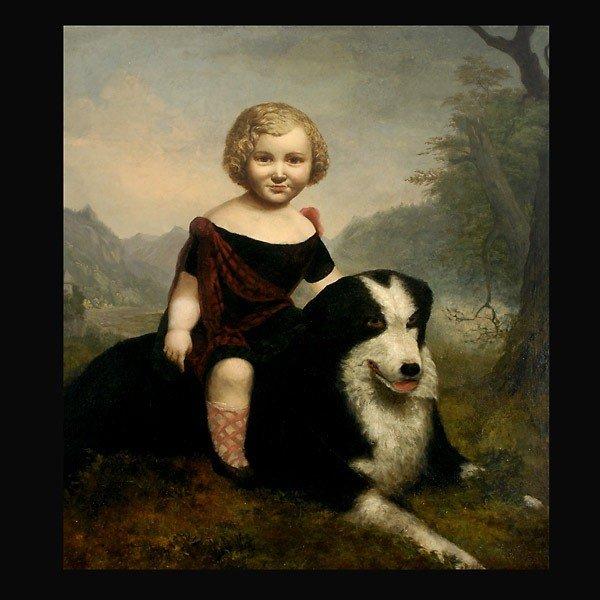 1011: British or Scottish painting of highland lass