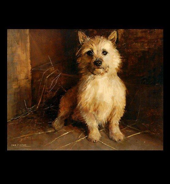 1012: Sam Fulton Cairn Terrier dog painting art