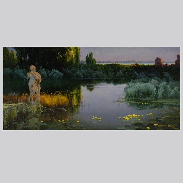 1019: Enrique Serra Spanish Summer Twilight art