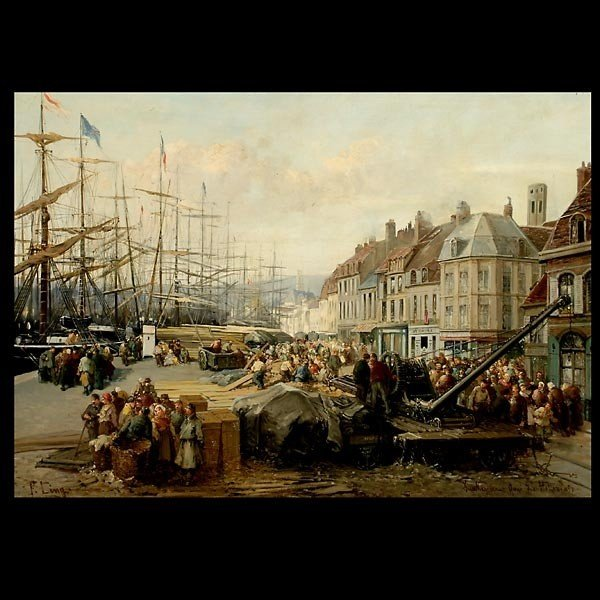 1020: P. Ling painting of Dunkerque