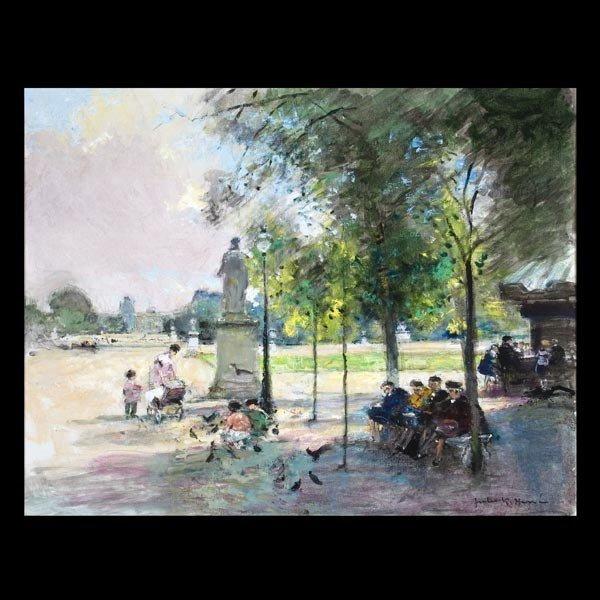 1023: Jules Rene Herve French modern impressionist art