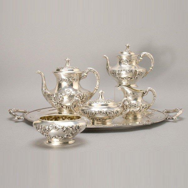 391: Gorham Five Piece Tea and Coffee Service